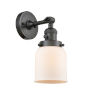 This item: Small Bell Oil Rubbed Bronze One-Light Wall Sconce with Matte White Cased Glass