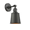 This item: Franklin Restoration Oil Rubbed Bronze Five-Inch One-Light Wall Sconce with Addison Oil Rubbed Bronze Metal Shade