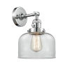 This item: Franklin Restoration Polished Chrome Eight-Inch One-Light Wall Sconce with Clear Large Bell Shade