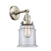 This item: Canton Brushed Satin Nickel One-Light Wall Sconce with Clear Glass