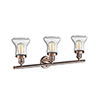 This item: Bellmont Antique Copper Three-Light LED Bath Vanity with Seedy Hourglass Glass