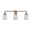 This item: Canton Antique Copper Three-Light Bath Vanity with Clear Glass