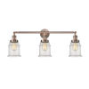 This item: Canton Antique Copper Three-Light Bath Vanity with Seedy Glass