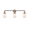 This item: Small Bell Antique Copper Three-Light Bath Vanity with Matte White Cased Glass