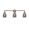 This item: Small Bell Antique Copper Three-Light Bath Vanity with Smoked Glass