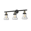 This item: Bellmont Black Antique Brass 30-Inch Three-Light Bath Vanity with Seedy Hourglass Glass