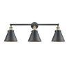 This item: Franklin Restoration Matte Black Antique Brass Three-Light LED Bath Vanity