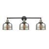 This item: Large Bell Black Antique Brass Three-Light Adjustable Bath Vanity