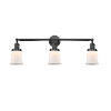 This item: Franklin Restoration Matte Black 10-Inch Three-Light LED Bath Vanity with Matte White Small Canton Shade