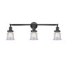 This item: Franklin Restoration Matte Black 30-Inch Three-Light LED Bath Vanity with Clear Canton Shade