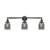 This item: Small Bell Black 30-Inch Three-Light Bath Vanity with Smoked Bell Glass