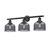 This item: Large Bell Black 32-Inch Three-Light Bath Vanity with Smoked Dome Glass