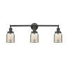 This item: Small Bell Matte Black Three-Light Adjustable Bath Vanity