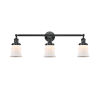 This item: Franklin Restoration Oil Rubbed Bronze 10-Inch Three-Light Bath Vanity with Matte White Small Canton Shade