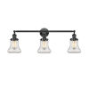 This item: Bellmont Oiled Rubbed Bronze 30-Inch Three-Light LED Bath Vanity with Clear Hourglass Glass