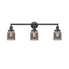 This item: Small Bell Oiled Rubbed Bronze 30-Inch Three-Light Bath Vanity with Smoked Bell Glass