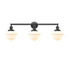 This item: Franklin Restoration Oil Rubbed Bronze 34-Inch Three-Light Bath Vanity with Matte White Glass Shade