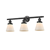 This item: Small Cone Oiled Rubbed Bronze 30-Inch Three-Light LED Bath Vanity with Matte White Cased Cone Glass