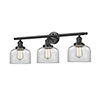 This item: Large Bell Oiled Rubbed Bronze 32-Inch Three-Light LED Bath Vanity with Clear Dome Glass