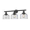 This item: Large Bell Oiled Rubbed Bronze 32-Inch Three-Light LED Bath Vanity with Seedy Dome Glass