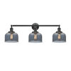 This item: Large Bell Oil Rubbed Bronze Three-Light Bath Vanity with Smoked Glass