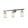 This item: Small Bell Polished Chrome Three-Light Bath Vanity with Matte White Cased Bell Glass