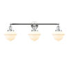 This item: Franklin Restoration Polished Chrome 34-Inch Three-Light Bath Vanity with Matte White Glass Shade