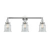 This item: Canton Polished Chrome Three-Light Bath Vanity with Clear Glass