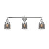 This item: Small Bell Polished Chrome Three-Light Bath Vanity with Smoked Glass