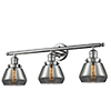 This item: Fulton Polished Nickel Three-Light LED Bath Vanity with Smoked Sphere Glass