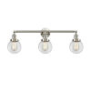 This item: Franklin Restoration Brushed Satin Nickel 30-Inch Three-Light Bath Vanity with Clear Beacon Shade