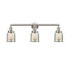 This item: Small Bell Brushed Satin Nickel Three-Light Bath Vanity