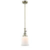 This item: Canton Antique Brass One-Light Hang Straight Swivel Mini Pendant with Matte White Glass