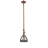 This item: Fulton Antique Copper 14-Inch One-Light Mini Pendant with Smoked Sphere Glass