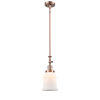 This item: Canton Antique Copper One-Light Hang Straight Swivel Mini Pendant with Matte White Glass
