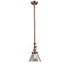 This item: Large Cone Antique Copper 14-Inch LED Mini Pendant with Clear Cone Glass