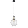 This item: Franklin Restoration Black Antique Brass 10-Inch One-Light Pendant with Seedy Beacon Shade and Wire