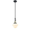 This item: Franklin Restoration Black Antique Brass Eight-Inch LED Mini Pendant with Matte White Cased Small Oxford Shade and Wire