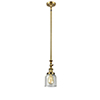 This item: Small Bell Brushed Brass 14-Inch One-Light Mini Pendant with Seedy Bell Glass