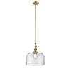 This item: Franklin Restoration Brushed Brass 12-Inch One-Light Pendant