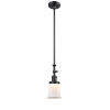 This item: Franklin Restoration Matte Black Seven-Inch LED Mini Pendant with Matte White Canton Shade and Wire