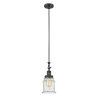 This item: Canton Matte Black LED Mini Pendant with Seedy Glass