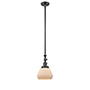 This item: Fulton Oiled Rubbed Bronze 14-Inch One-Light Mini Pendant with Matte White Cased Sphere Glass
