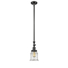 This item: Canton Oiled Rubbed Bronze 14-Inch LED Mini Pendant with Clear Bell Glass