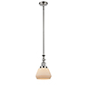 This item: Fulton Polished Nickel 14-Inch One-Light Mini Pendant with Matte White Cased Sphere Glass