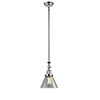 This item: Large Cone Polished Nickel 14-Inch LED Mini Pendant with Clear Cone Glass