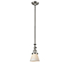 This item: Small Cone Brushed Satin Nickel 14-Inch One-Light Mini Pendant with Matte White Cased Cone Glass