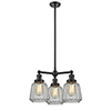 This item: Chatham Oiled Rubbed Bronze Three-Light Chandelier with Clear Fluted Novelty Glass