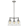 This item: Canton Brushed Satin Nickel Three-Light Chandelier with Clear Bell Glass