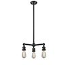 This item: Bare Bulb Oiled Rubbed Bronze Three-Light LED Chandelier